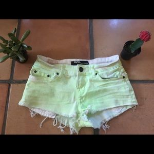 Urban outfitters neon green shorts